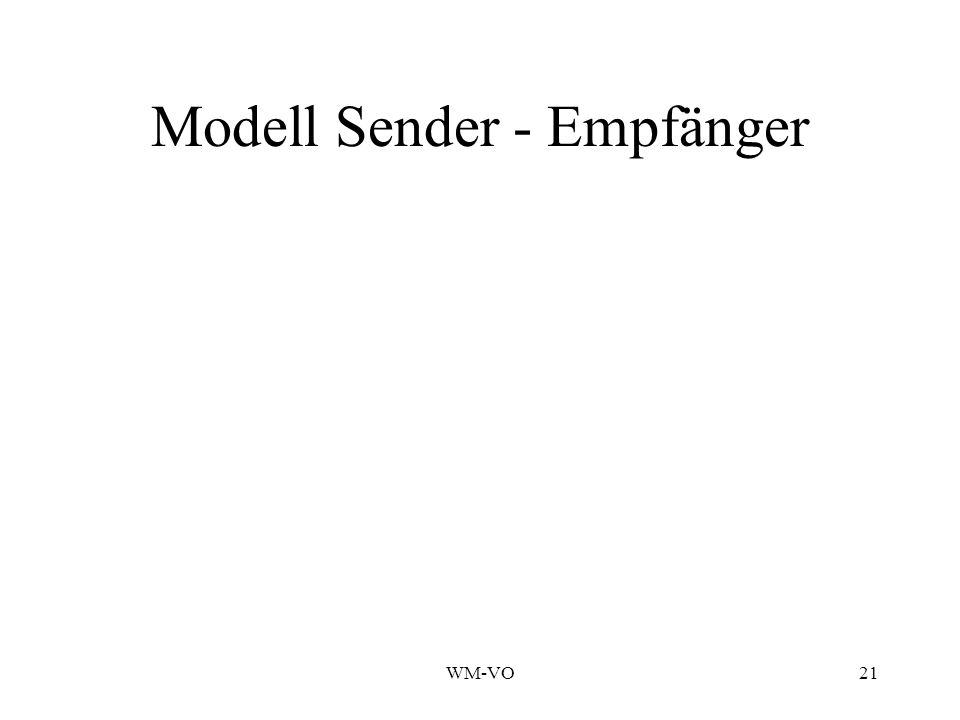 WM-VO21 Modell Sender - Empfänger
