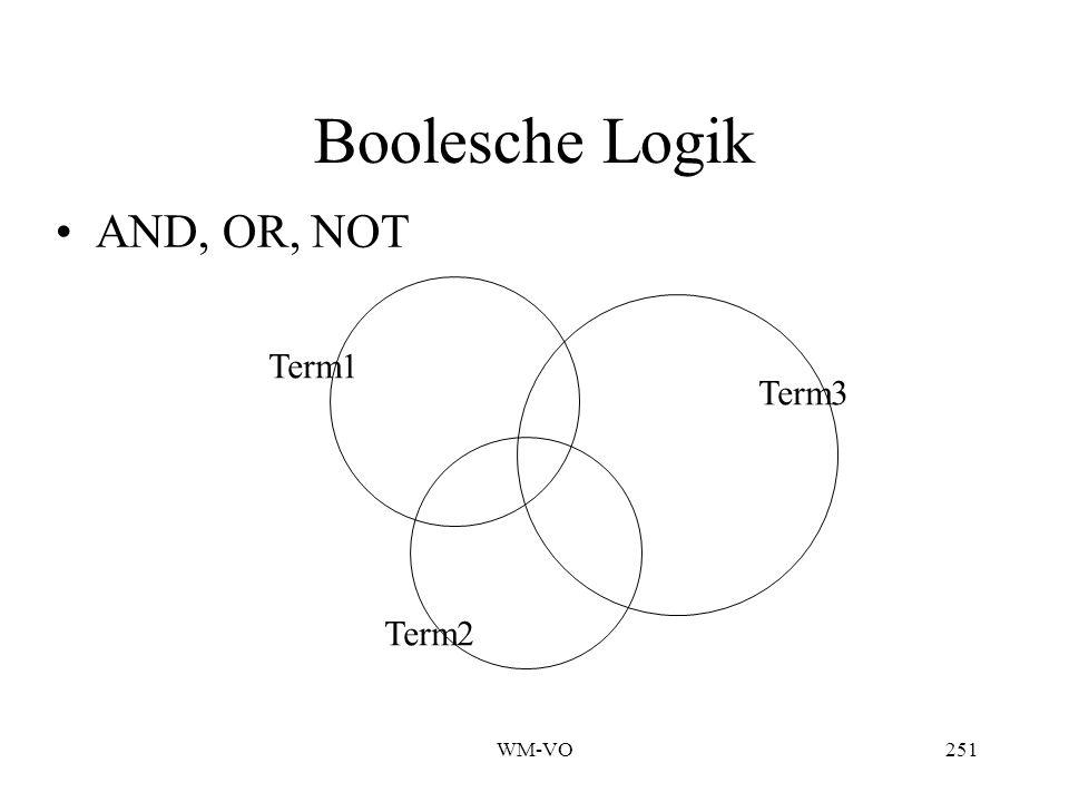 WM-VO251 Boolesche Logik Term1 AND, OR, NOT Term2 Term3