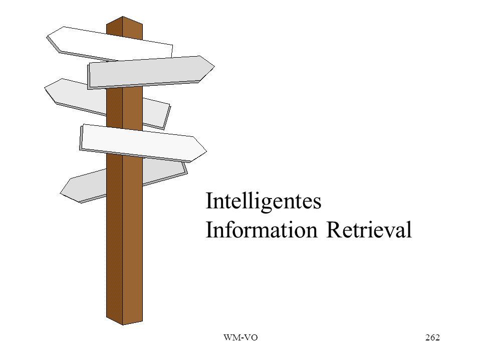 WM-VO262 Intelligentes Information Retrieval
