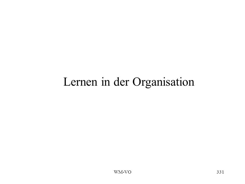 WM-VO331 Lernen in der Organisation