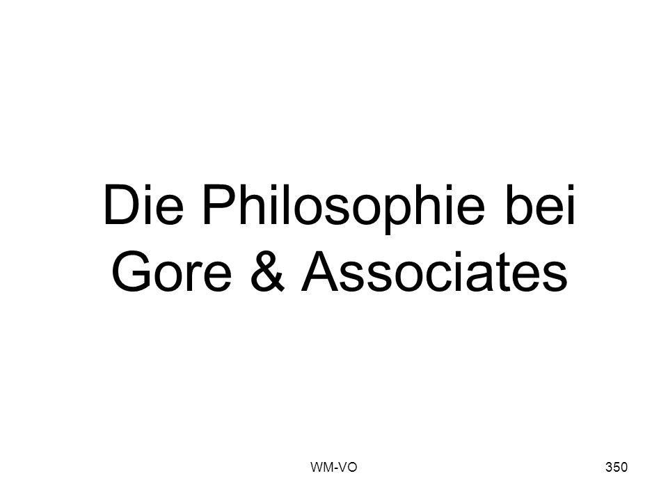 WM-VO350 Die Philosophie bei Gore & Associates