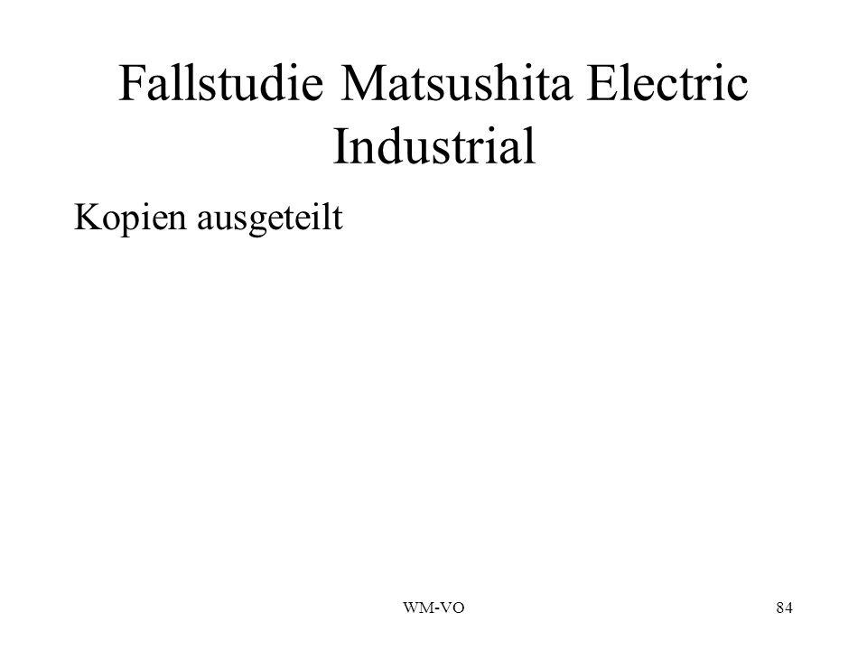 WM-VO84 Fallstudie Matsushita Electric Industrial Kopien ausgeteilt
