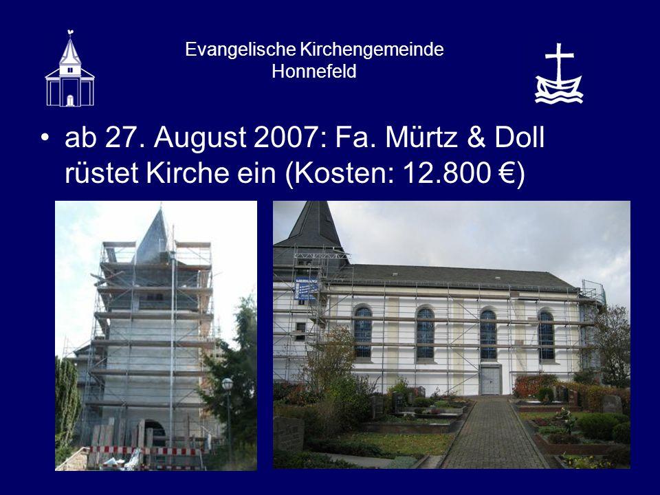 Evangelische Kirchengemeinde Honnefeld ab 27. August 2007: Fa.