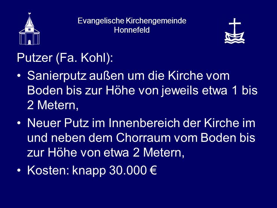 Evangelische Kirchengemeinde Honnefeld Putzer (Fa.