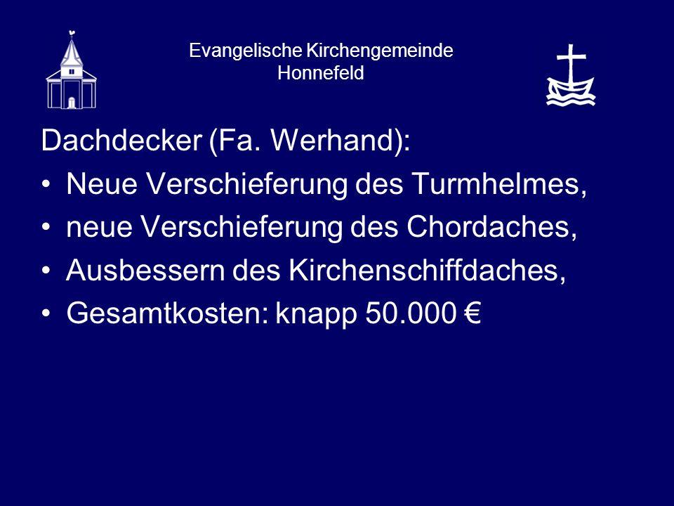 Evangelische Kirchengemeinde Honnefeld Dachdecker (Fa.