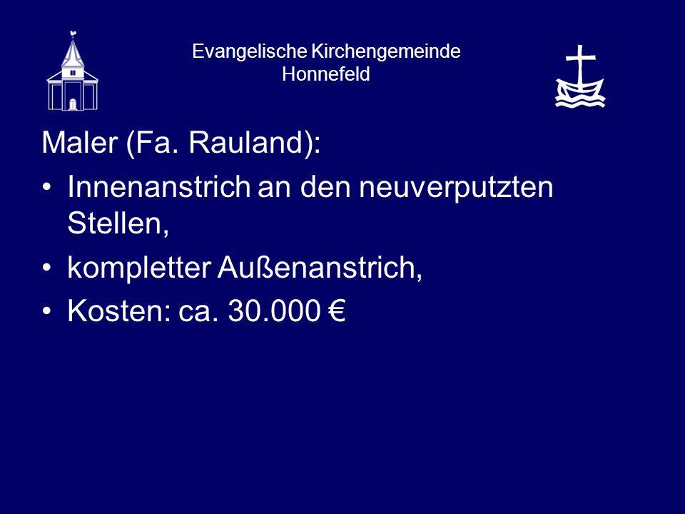 Evangelische Kirchengemeinde Honnefeld Maler (Fa.
