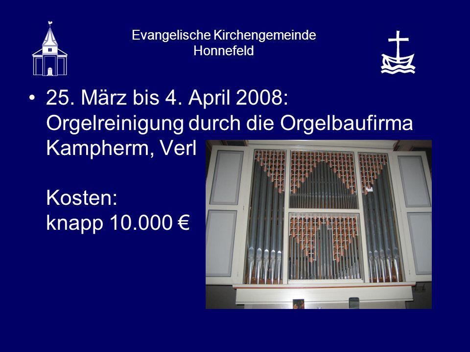 Evangelische Kirchengemeinde Honnefeld 25. März bis 4.