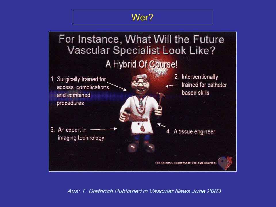 Wer? Aus: T. Diethrich Published in Vascular News June 2003