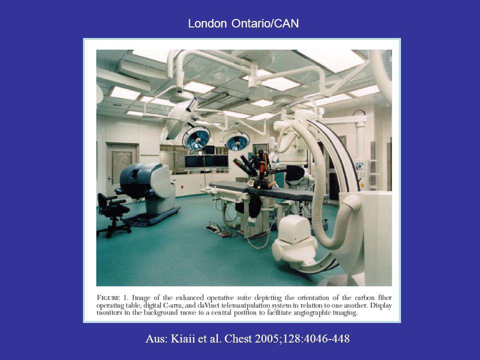 Transapikaler Aortenklappenersatz mobiler C-Bogen