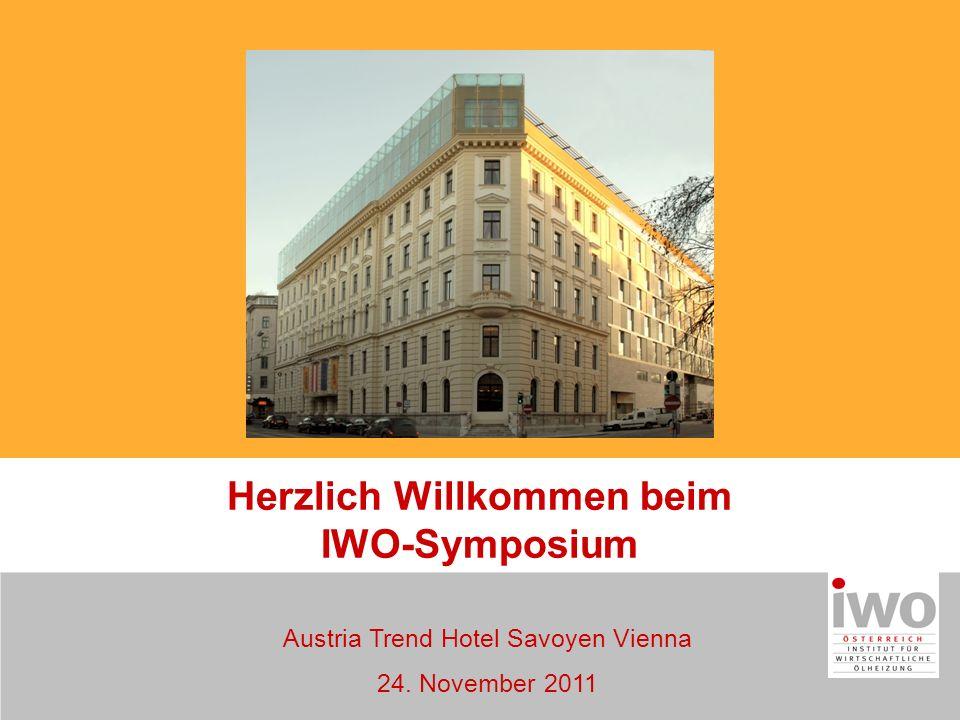 Austria Trend Hotel Savoyen Vienna 24. November 2011 Herzlich Willkommen beim IWO-Symposium