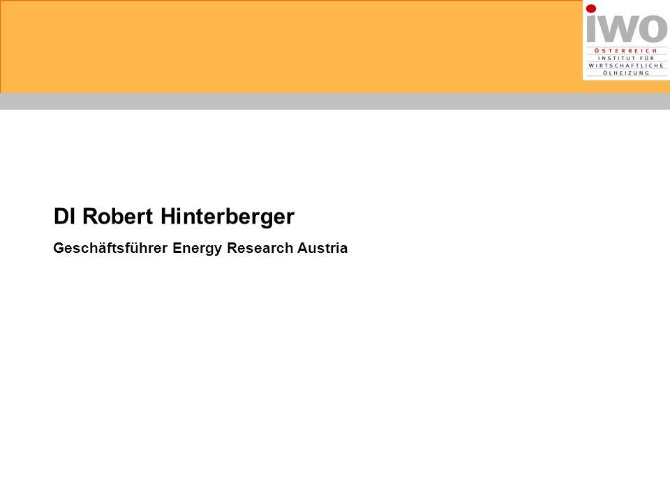 DI Robert Hinterberger Geschäftsführer Energy Research Austria