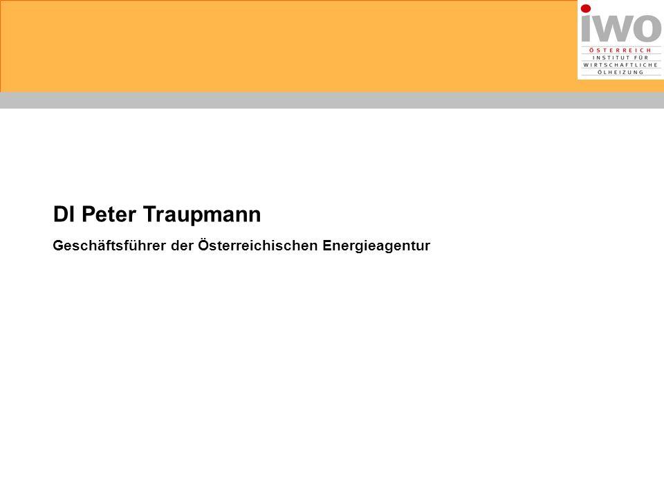 DI Peter Traupmann Geschäftsführer der Österreichischen Energieagentur