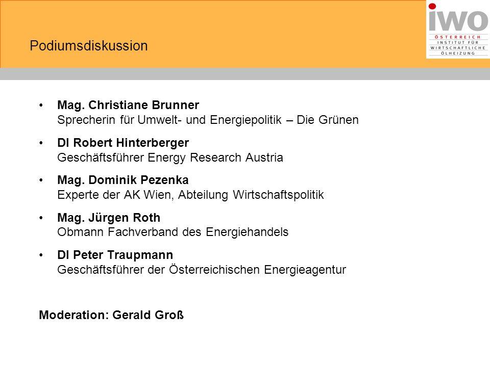 Mag. Christiane Brunner Sprecherin für Umwelt- und Energiepolitik – Die Grünen DI Robert Hinterberger Geschäftsführer Energy Research Austria Mag. Dom