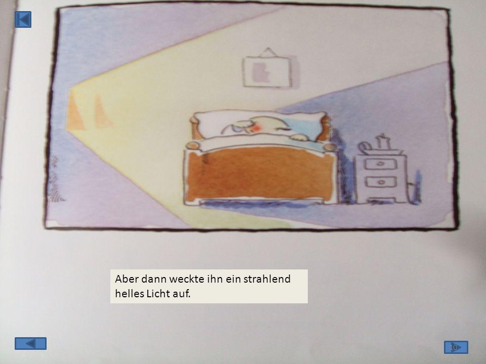 Dann schloss er die Tür, stieg die Treppe hoch, ging ins Bett, und schlief ein. 9