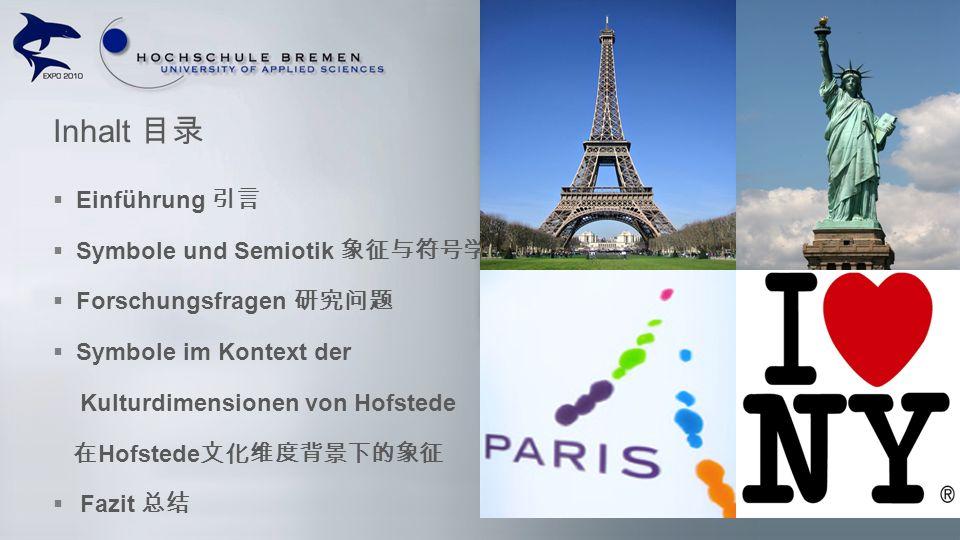 Einführung Symbole und Semiotik Forschungsfragen Symbole im Kontext der Kulturdimensionen von Hofstede Hofstede Fazit Inhalt