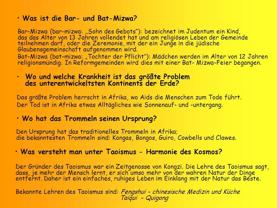 Was ist die Bar- und Bat-Mizwa? Bar-Mizwa (bar-mizwa: Sohn des Gebots): bezeichnet im Judentum ein Kind, das das Alter von 13 Jahren vollendet hat und