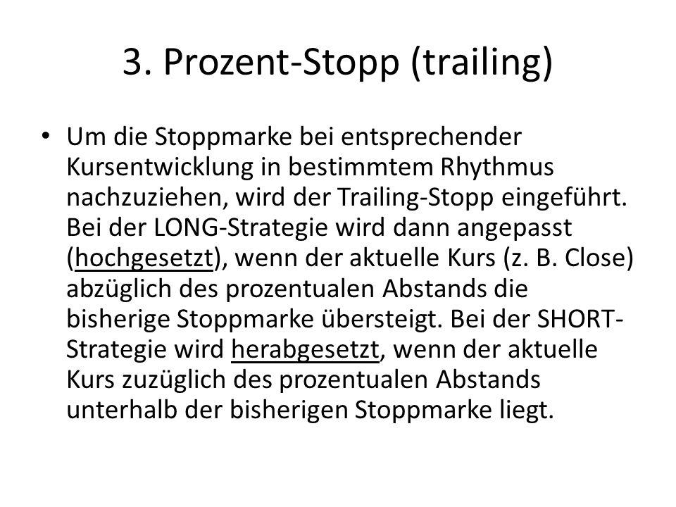 3.1 Beispiel Prozent-Stopp (trailing)