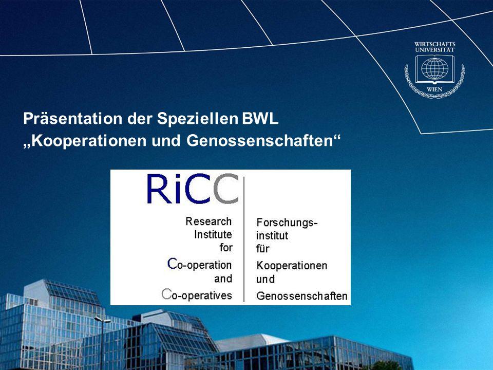 Präsentation der Speziellen BWL Kooperationen und Genossenschaften