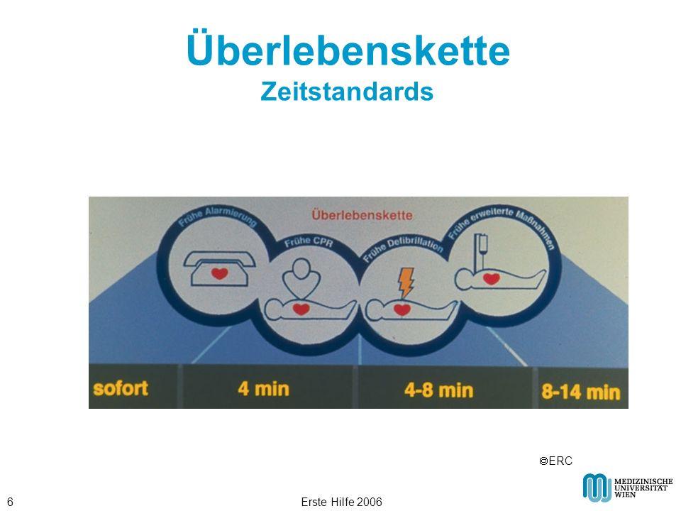 Erste Hilfe 20066 Überlebenskette Zeitstandards ERC