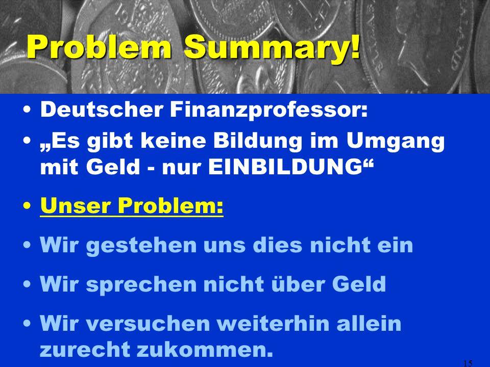 15 Problem Summary.