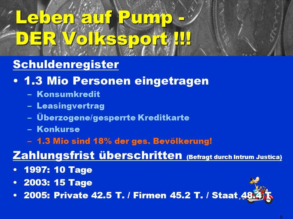 6 Leben auf Pump - DER Volkssport !!.
