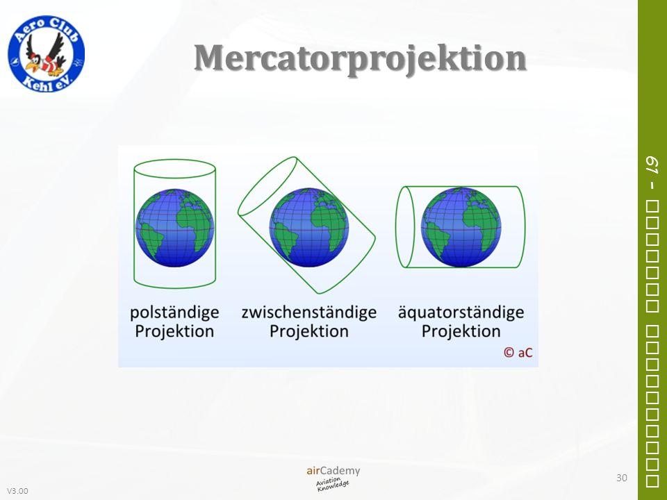 V3.00 61 – General Navigation Mercatorprojektion 30