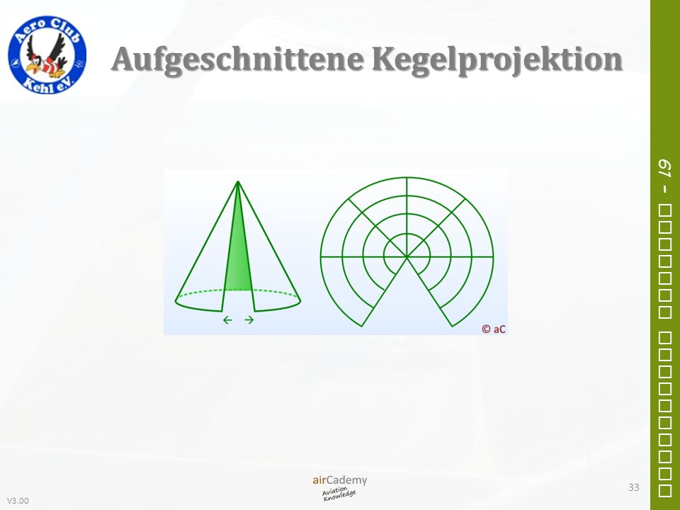 V3.00 61 – General Navigation Aufgeschnittene Kegelprojektion 33