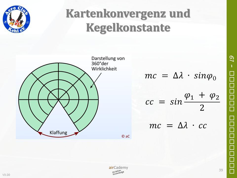V3.00 61 – General Navigation Kartenkonvergenz und Kegelkonstante 39