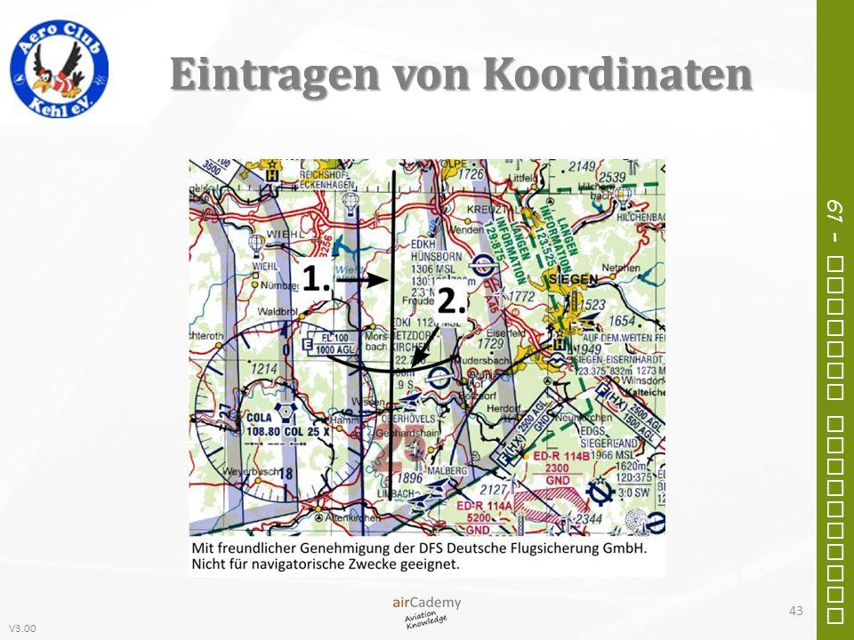 V3.00 61 – General Navigation Eintragen von Koordinaten 43