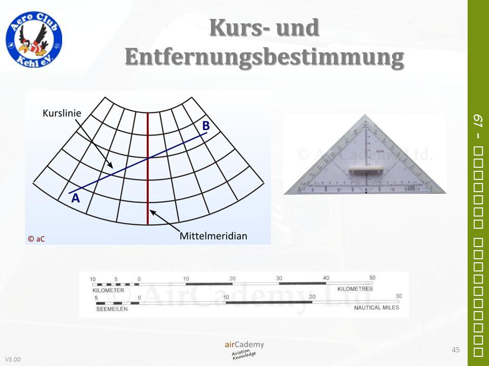V3.00 61 – General Navigation Kurs- und Entfernungsbestimmung 45