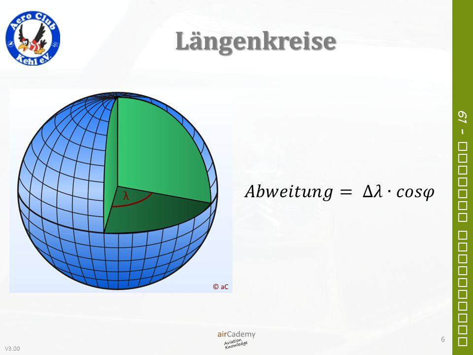 V3.00 61 – General Navigation Kompassdrehfehler Bei NOrdkursen muss die Kurve vOrher ausgeleitet werden.