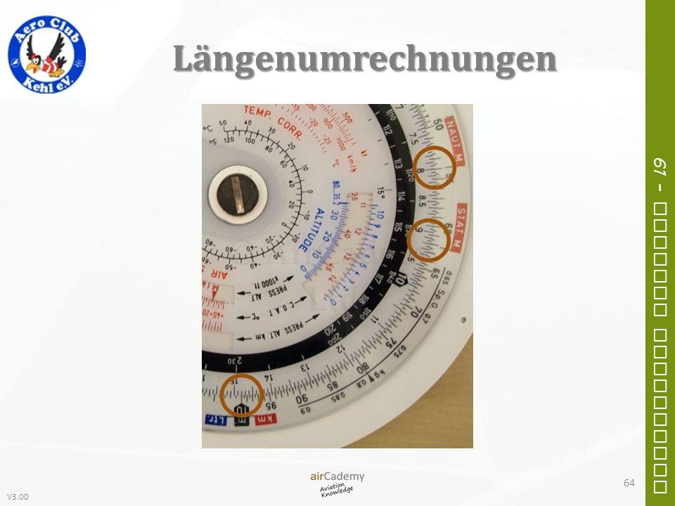 V3.00 61 – General Navigation Längenumrechnungen 64