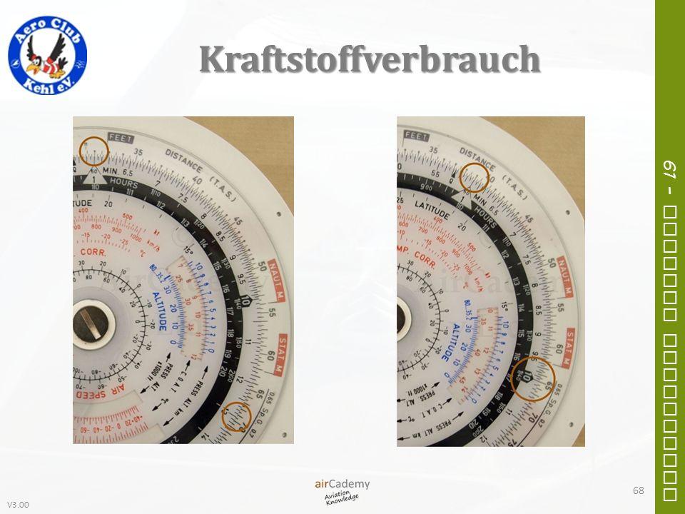 V3.00 61 – General Navigation Kraftstoffverbrauch 68