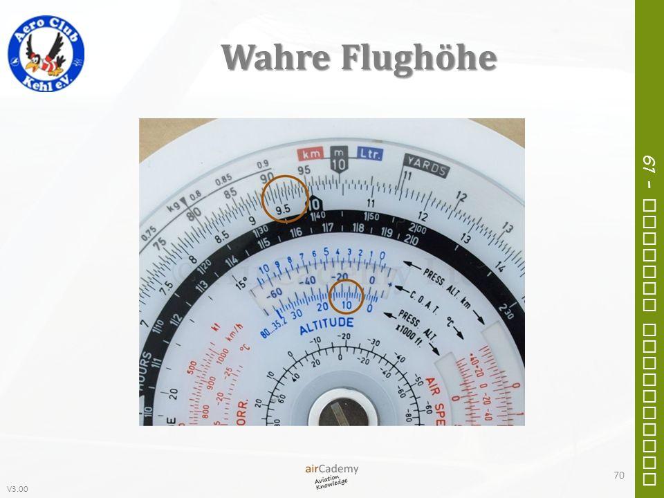 V3.00 61 – General Navigation Wahre Flughöhe 70