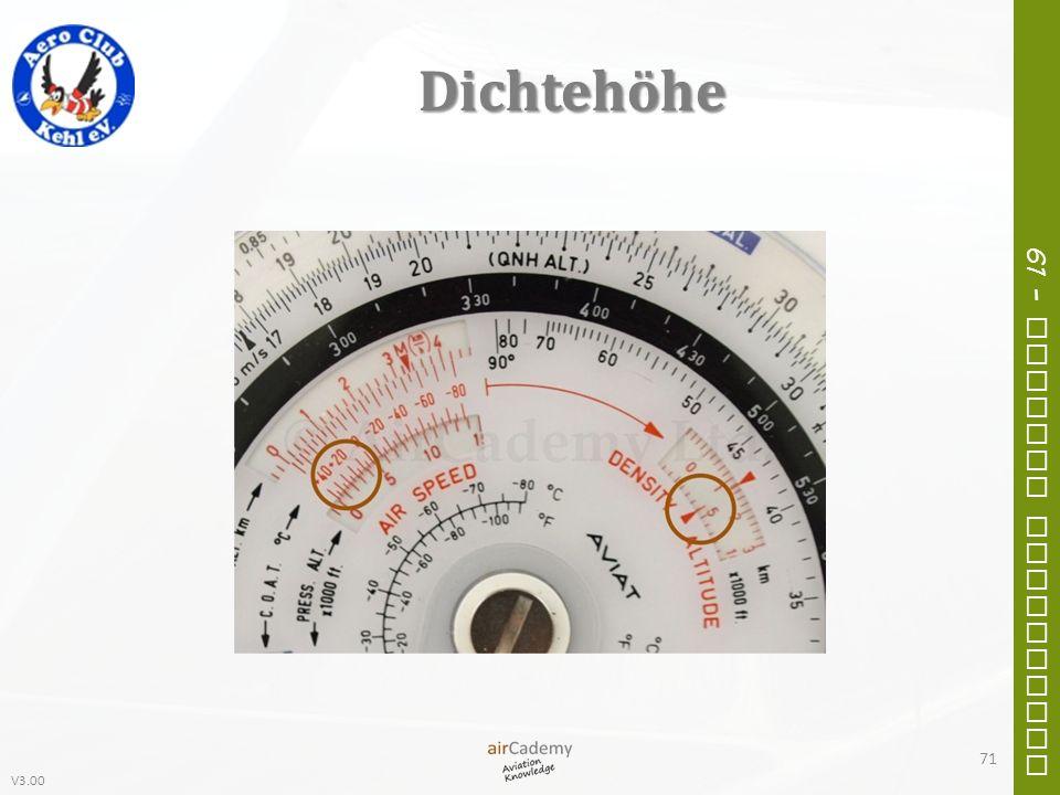 V3.00 61 – General Navigation Dichtehöhe 71