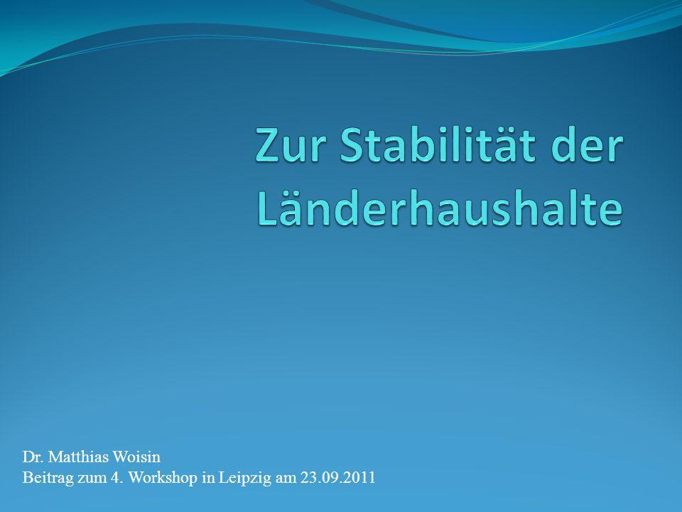 Dr. Matthias Woisin Beitrag zum 4. Workshop in Leipzig am 23.09.2011