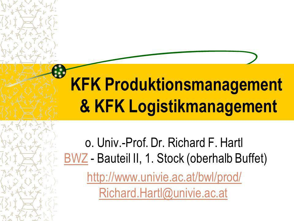 KFK Produktionsmanagement & KFK Logistikmanagement o.