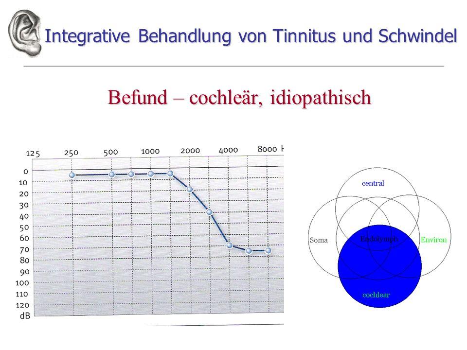 Integrative Behandlung von Tinnitus und Schwindel Befund – cochleär, idiopathisch