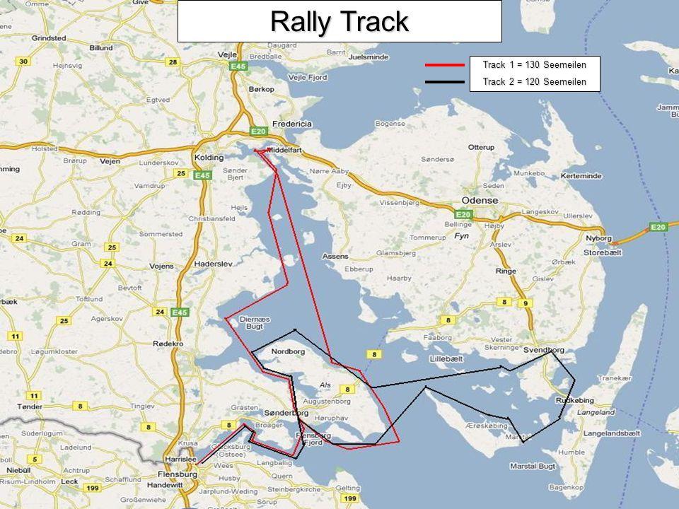 Rally Track Track 1 = 130 Seemeilen Track 2 = 120 Seemeilen