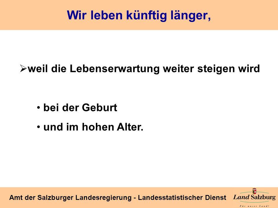 Seite 36 Amt der Salzburger Landesregierung - Landesstatistischer Dienst Wie wird sich das Verhältnis der Generationen zueinander verändern.