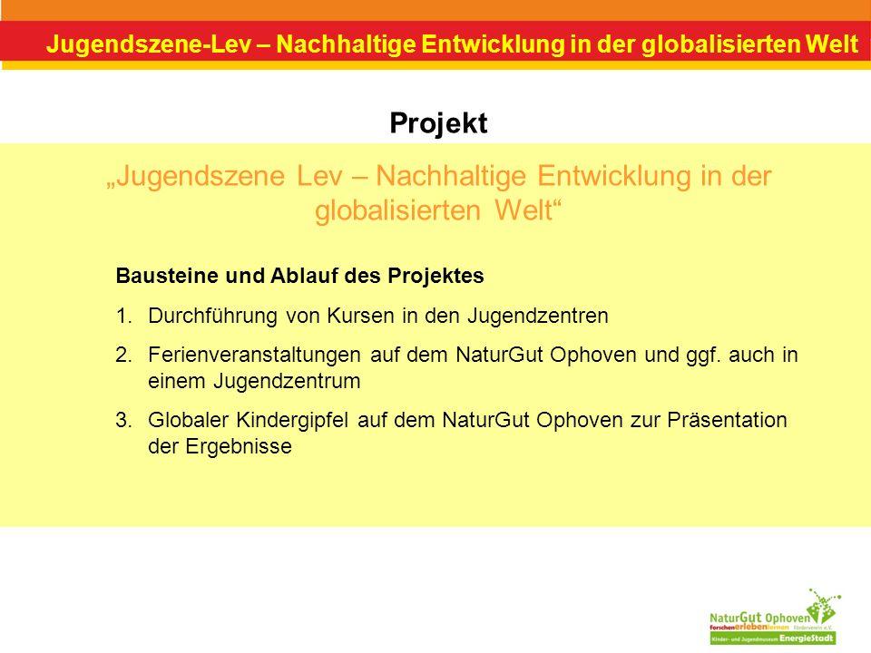Jugendszene-Lev – Nachhaltige Entwicklung in der globalisierten Welt Projekt Jugendszene Lev – Nachhaltige Entwicklung in der globalisierten Welt Baus