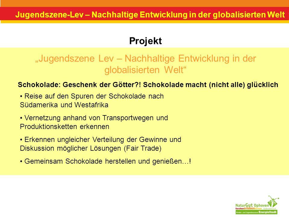Jugendszene-Lev – Nachhaltige Entwicklung in der globalisierten Welt Projekt Jugendszene Lev – Nachhaltige Entwicklung in der globalisierten Welt Scho
