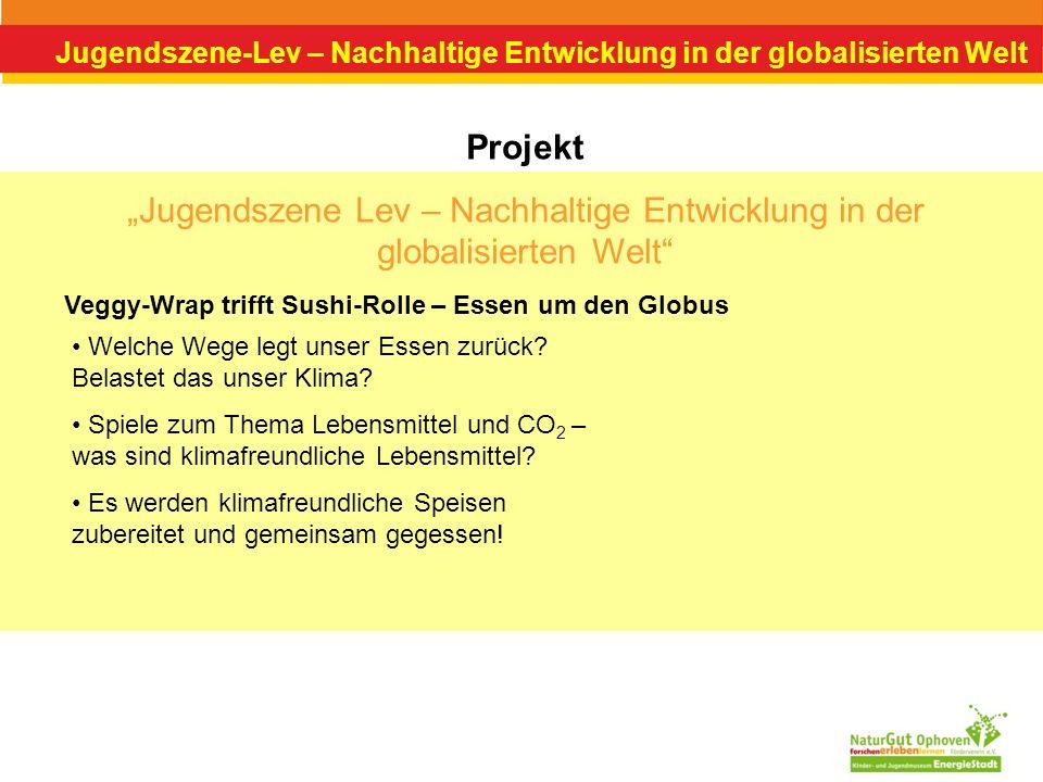 Jugendszene-Lev – Nachhaltige Entwicklung in der globalisierten Welt Projekt Jugendszene Lev – Nachhaltige Entwicklung in der globalisierten Welt Vegg
