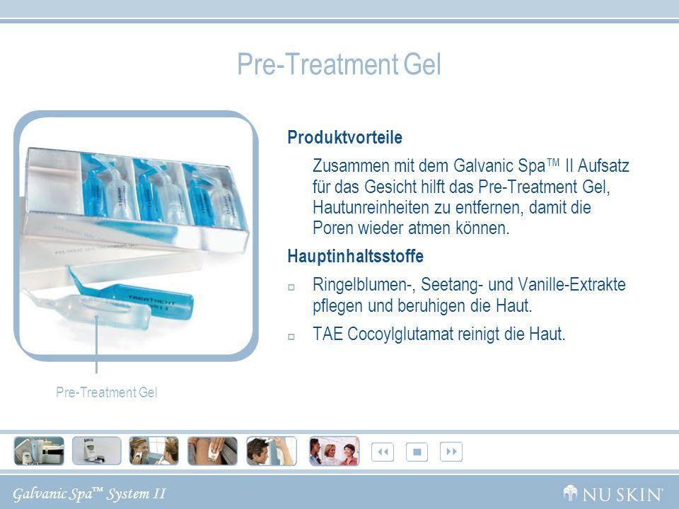 Galvanic Spa System II Pre-Treatment Gel Produktvorteile Zusammen mit dem Galvanic Spa II Aufsatz für das Gesicht hilft das Pre-Treatment Gel, Hautunr