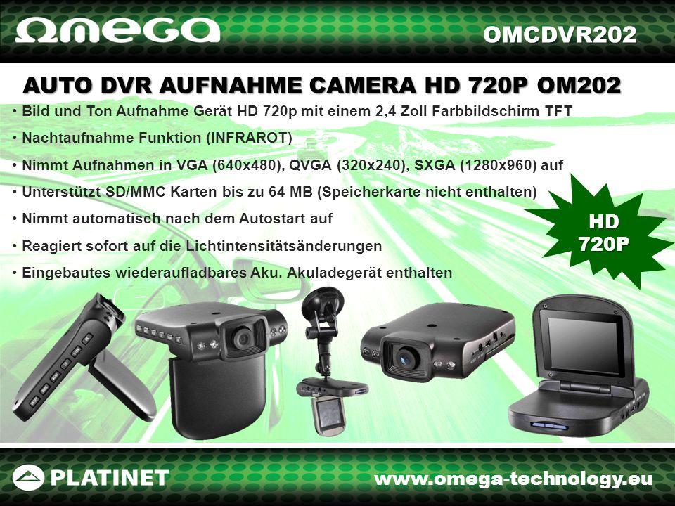www.omega-technology.eu Mit dem Aufnahme Gerät leistest Du einen Beitrag zur Sicherheit auf Strassen.