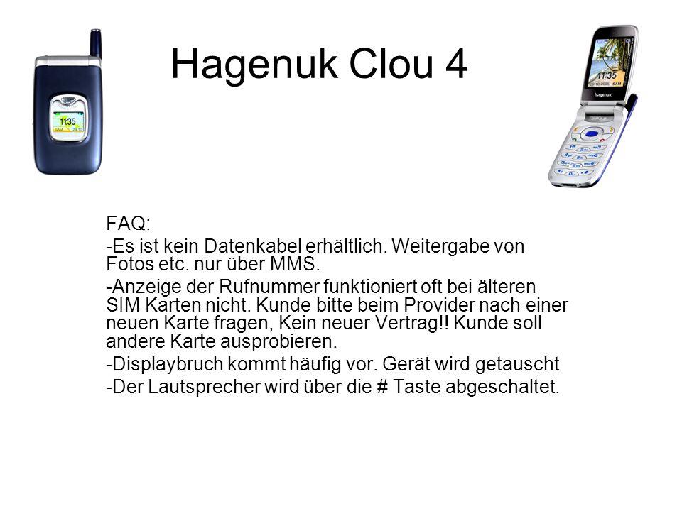 Hagenuk Clou 4 FAQ: -Es ist kein Datenkabel erhältlich.