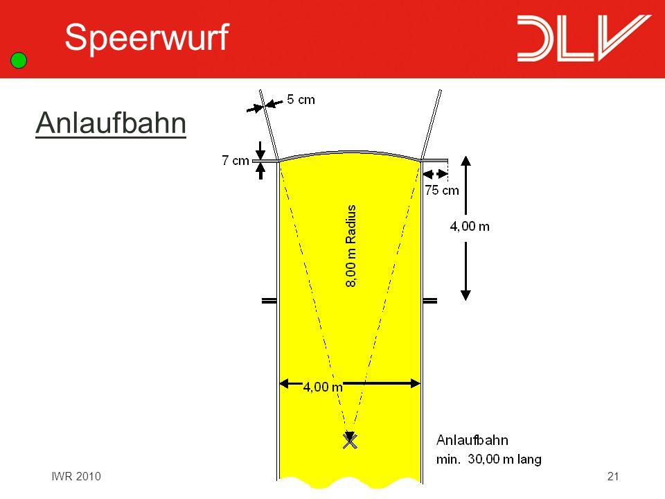 21IWR 2010 Speerwurf Anlaufbahn