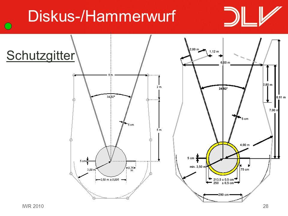 28IWR 2010 Schutzgitter Diskus-/Hammerwurf