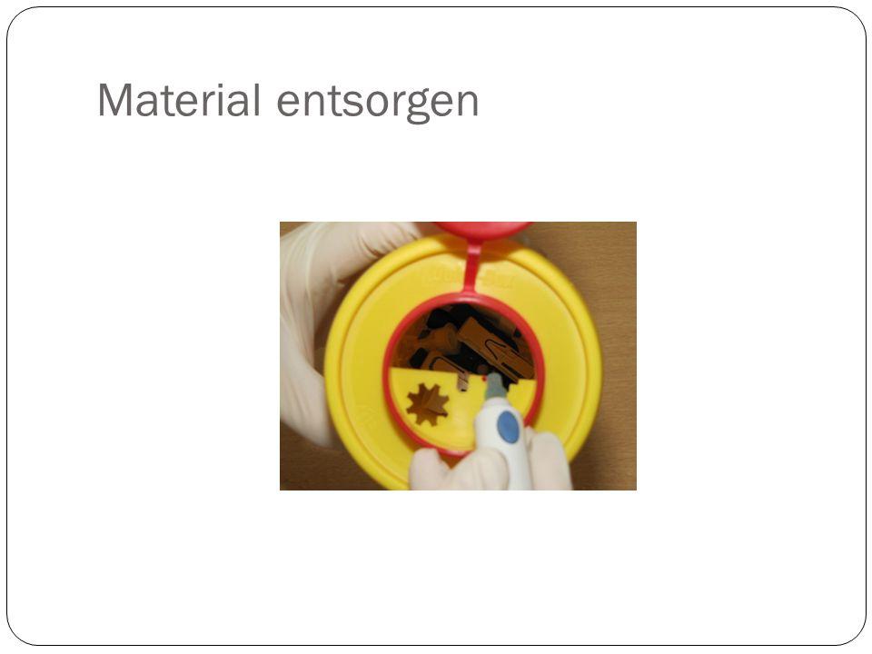 Material entsorgen