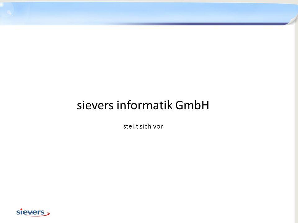 Hauptgeschäftsstelle Erding: sievers informatik GmbH Moosweg 2 85435 Erding Telefon: 08122 94547 0 Fax: 08122 94547 19 Internet: http://www.sievers-informatik.dehttp://www.sievers-informatik.de e-Mail: information@sievers-informatik.de Kontakt 12